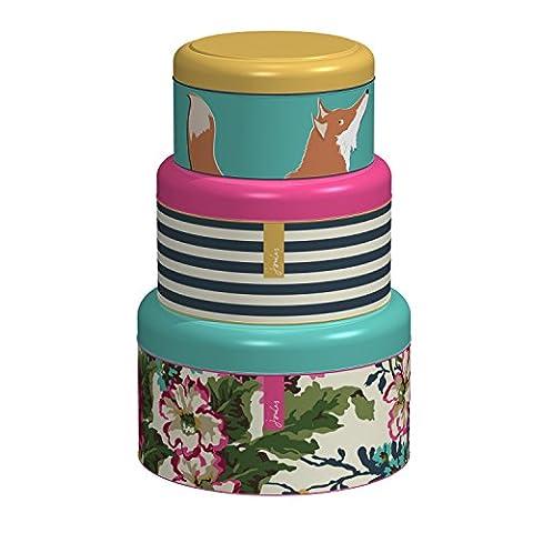 Joules Cake Tins, Set of 3, Multi-Colour