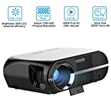 Video Beamer 3500 Lumen HD LED Home Projektor 1280x800 WXGA Auflösung Unterstützung 1080P HDMI USB VGA für Heimkino Theater Video Film Projektor
