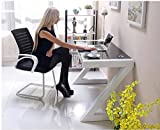 New Stunning Phoenix High Gloss White Black Computer Desk Workstation And Office Chair By Limitless Base