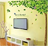 #10: Decals Design 'Bestselling Leaves Tree' Wall Sticker (PVC Vinyl, 90 cm x 60 cm)