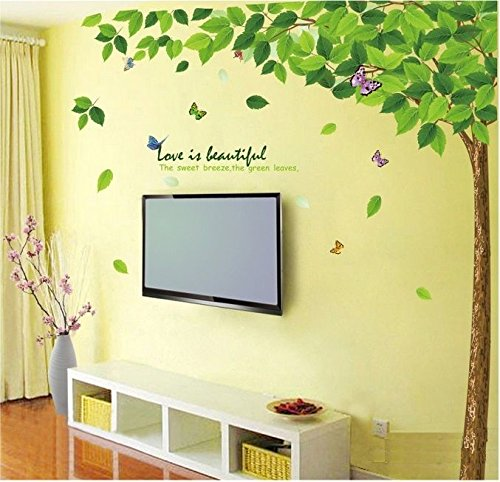 Decals Design 'Bestselling Leaves Tree' Wall Sticker (PVC Vinyl, 90 cm x 60 cm)