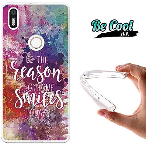 Becool® Fun - Funda Gel Flexible para Bq Aquaris X5 Plus ,Carcasa TPU fabricada con la mejor Silicona, protege y se adapta a la perfección a tu Smartphone y con nuestro exclusivo diseño. Razón para sonreír