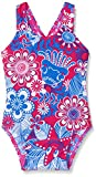 Speedo Mädchen All Over Fantasy Blumen Essential Badeanzug One Size Electric Pink/Neon Blue/White