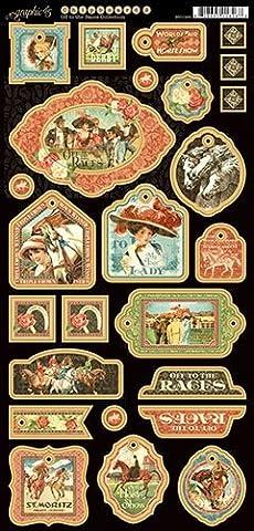Graphic 45Off To The Races décoratifs pour panneaux d'aggloméré, Multicolore