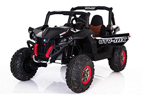 OFFROAD Rocker 4x45W 2x12V Elektroauto Kinder Elektro Auto Kinderfahrzeug Ferngesteuert Elektro (Schwarz)