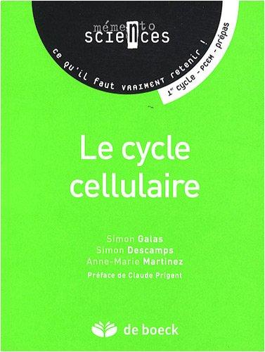 Le cycle cellulaire : Premier cycle-PCEM-Prépas