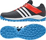 Scarpe da hockey SRS 4 Adidas, colorenero, a rete traspirante, suola Traxion M29763, Uomo, Adidas Srs 4 M, Black/Orange/Blue, UK 13.5 /EU 49 1/3