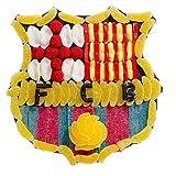 Tarta chuches FC Barcelona escudo