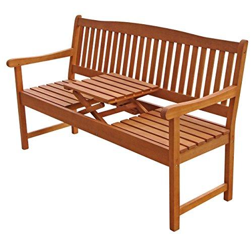 """Indoba Gartenbank, 3-Sitzer mit Klapptisch """"Sun Flair"""" – Serie, braun, 150 x 61 x 88 cm, IND-70032-GB3TI - 3"""