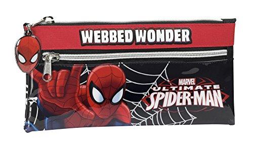 Spider-Man – Portatodo con Dos Cremalleras, 22 x 11 cm (SAFTA 811412029)
