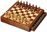 Philos 2725 - Schachkassette Exklusiv, Feld 30 mm, Königshöhe 65 mm, mit Schublade, magnetisch