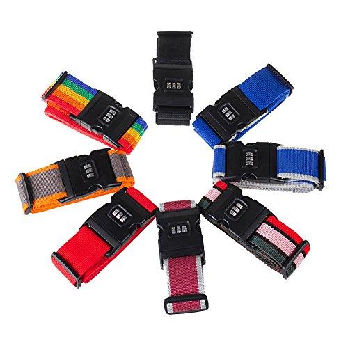 HaMeng Correa para equipaje, maleta, etc., Red (multicolor) - UK-LUGGA