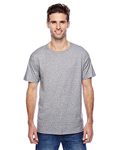 Hanes uomo S/S x-temp maglietta a maniche corte Small,1 Light Steel / 1 Lime