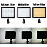 Andoer® 12W 1280LM 160 LED Video Light Lamp Panel Dimmable w/ Standard Hot Shoe Plug for Canon Nikon Pentax DSLR Camera Video Camcorder