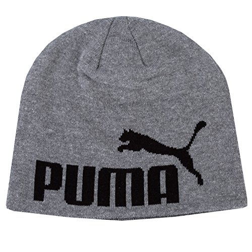 PUMA Mütze Big Cat Beanie, Medium Gray Heather-No1 Logo, OSFA, 834016 52