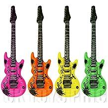 1x guitarra inflable - colores surtidos - 106 cm