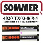 2 X Sommer 4020 TX03-868-4, 4- Befehl 868MHz Handsender, TOP Qualität original. 100% kompatibel mit Sommer 4026, Sommer 4031, Sommer 4025!!!