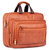 #2: The Clownfish Executive Laptop Briefcase | 15.6 inch Laptop Bag | Unisex Office Bag | Tablet Bag (Cinnamon)