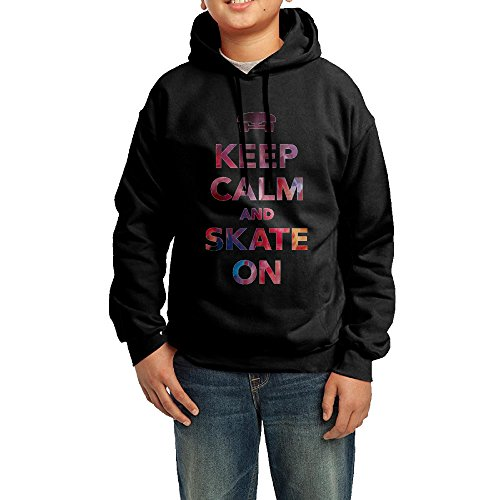 onlyprint-youth-keep-calm-and-skate-on-boys-girls-hoodies-sweatshirt-size-xl-us-black