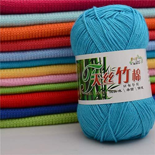 Shoppy étoile Neuf 12 Couleurs en Bambou Fil de Coton 1pièce 50 g en Bambou Coton Chaud Naturel Doux Tricot Crochet Tricot Pelote de Laine 30 : Chine, 31