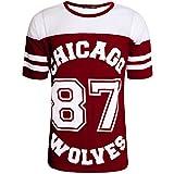 Simply Chic Outlet Grand maillot de baseball XL long des Chicago 87 Wolves pour femme -  noir -  S/M