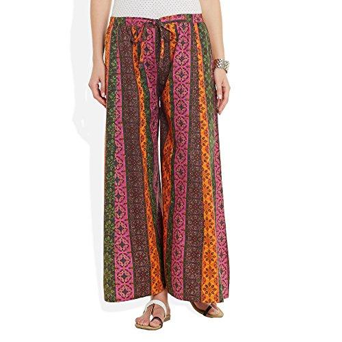 Baumwolle bedruckt Palazzo-Hose für Frauen Indian Mehrfarbig 1
