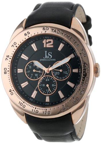 Joshua & Sons Reloj con Movimiento Cuarzo japonés Man JS-45-SS 45 mm