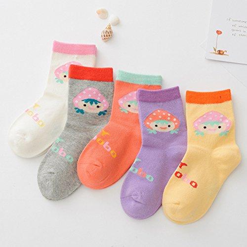 ZYTAN Socks Children Socks Cotton Socks Color Baby Socks Pure Cotton Socks 6 pairs
