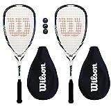 2 x Wilson Hyper Hammer 145 Squash rackets