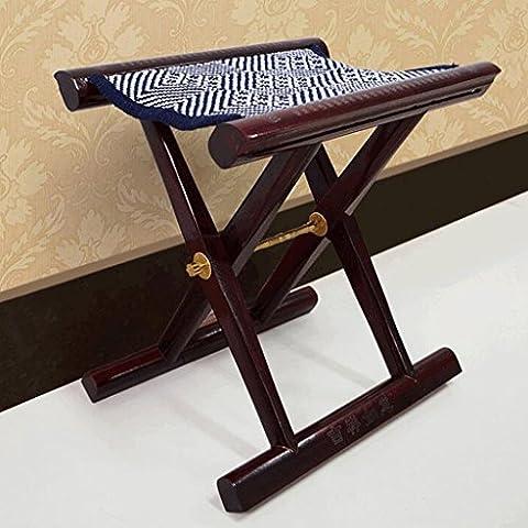 Folding chair Mahogany Maza Folding Stool Small Horse Bar Fine