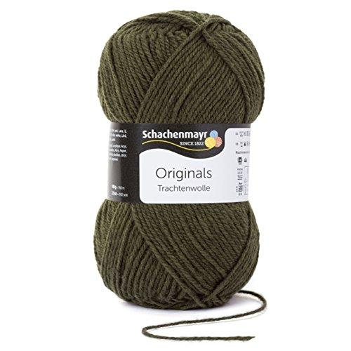Schachenmayr Trachtenwolle 9801876-00071 loden Handstrickgarn Loden Green Wool