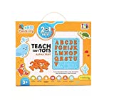 #9: Skill factory 2 in 1 educational learning board with alphabets to create on alpha tray/writing board/Multipurpose board for kids/EN 71 certified for kids/multicolor board for kids