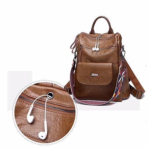 retro - multifunktionale rucksack lady,brown brown