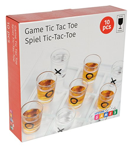 Lifetime-Games-22699-Trinkspiele-Tic-Tac-Toe-10-Stck-transparent Lifetime Games 22699 – Trinkspiele, Tic Tac Toe, 10 Stück, transparent -