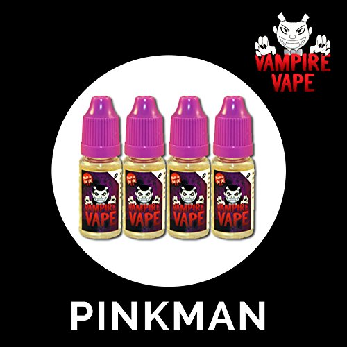 4 botecitos liquido Vampire Vape Pinkman cigarrillos