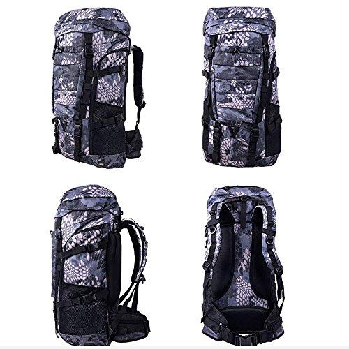 Bergsteigen Taschen Reisetaschen Rucksack Rucksack wasserdichte Tasche Rucksack und Tourismus Wandern Beutel 80 L Liter große Kapazität Rucksack Q