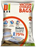 DIBAG ® 2 VACUUM COMPRESSED STORAGE SAVING SPACE BAGS 80 X 60 cm. Ideal For Storage Clothing, Duvets, Bedding, Pillows, Curtains .