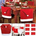 Wholesale Solutions Ltd - Santa Hat Dining Chair Covers Christmas Party Xmas Table Decoration - inexpensive UK light shop.