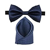 #4: Sorella'z Navy Blue Dotted Bow & Pocket Square Combo