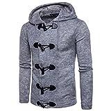 Top Cardigan Coat Jacket Uomo Autunno Inverno Moda Uomo Slim Designed Hooded,YanHoo Maglie a Manica Lunga da Uomo, Felpe da Escursionismo da Uomo,Abbigliamento da Pallamano S/M/L/XL/XXL