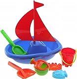 Bieco 06063996 - Segelboot Strandset 7 teilig