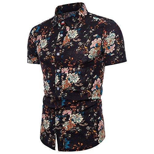 CICIYONER Herren polohemd T Shirts Männer Oberteile Blusen Sommer Kurzarm Casual Slim Persönlichkeit Drucken Beiläufig Schlank Kurzärmlig Hemd M-5XL