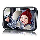 Miroir Rétroviseur Bébé de Surveillance Bébé pour Siège Arrière Miroir, de Voiture pour Bébé en Sécurité avez une Rotation 360°,Retroviseur Bebe Confort(Noir)