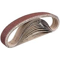 Bandas de lija de tejido (12 unidades, 40 x 760 mm, 2 de grano 40/60/80/120/180/240, compatible con lijadora de cinta de tubo, papel de lija de tubo, grano mixto)