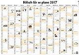 Kölsch für ze plane 2017: Wandplaner (Edition Lempertz)