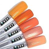 Color Gel 5er Set (je 5ml): Orange Flowers - Gel Orange, Gel Dunkelorange, Gel Hellorange