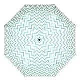 MOSISO Regenschirm Taschenschirm automatisch und stabil fest schnell trocken wasserabweisende leicht und kleine für Outdoor Reise, Chevron Heiss Blau Wasser Kräuselung - 3