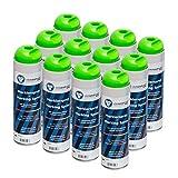 Markierspray leuchtend grün clickandtools® 12'er Pack mit Spezialsprühkopf, schnell trocknend