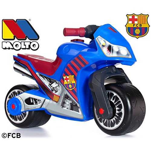 Rutsch Motorrad FC Barcelona Style mit breiten Reifen, dient als Lauflernhilfe für die Kleinen, 70 cm, für Innen und Außen, Robust, Lauflernrad fürs Gleichgewicht, Kinder Bike, Laufrad ab 18 Monaten