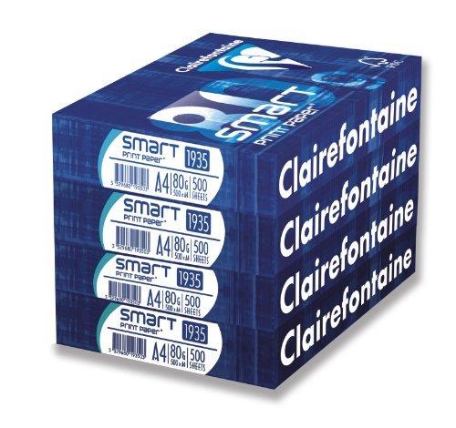 Clairefontaine Premium Multifunktionspapier, A4, Riesverpackung mit praktischem Aufreißfaden Drucker Papier, weiß